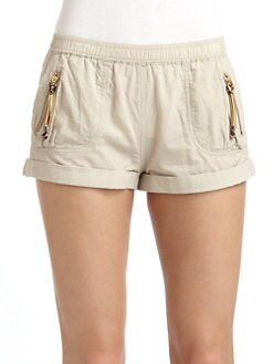 Just Cavalli - Cotton Zip-Pocket Shorts