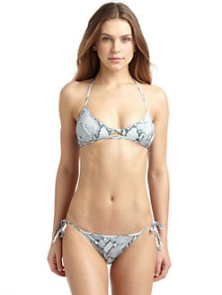 Chloe - Snake Print Tie Bikini