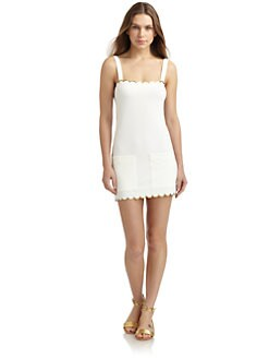 Chloe - Picot Knit Scalloped Dress