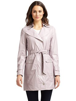 Via Spiga - Studded Coated Trenchcoat