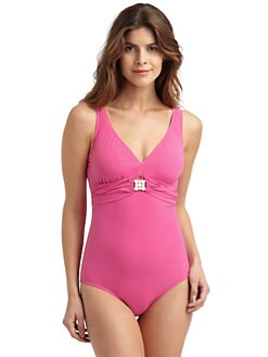 Lisa Curran - One-Piece V-Neck Swimsuit