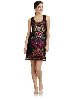 Nicole Miller - Tribal Print Racerback Chemise