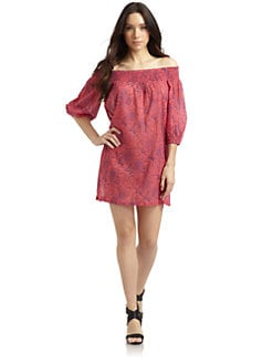 French Connection - Floral & Fauna Cotton Printed Coverup