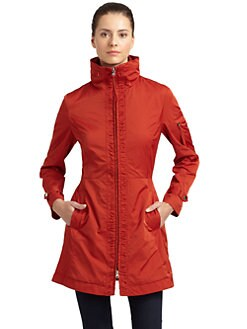 Rainforest - Packable Ruched-Placket Coat