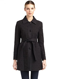 Elie Tahari - Kelly Cotton Eyelet Trenchcoat