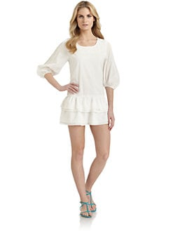 6 Shore Road - Pearl Island Crochet-Trimmed Cotton Dress