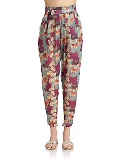 6 Shore Road - Floral-Print Chiffon Pants