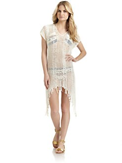 6 Shore Road - Chicha Fringed Hand-Crocheted Coverup