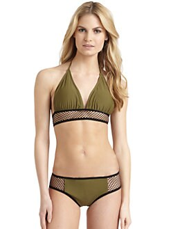6 Shore Road - Mesh-Band Bikini Top