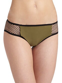 6 Shore Road - Mesh-Paneled Bikini Bottom
