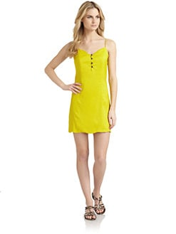 6 Shore Road - Ocean Ave Button-Front Crepe Dress