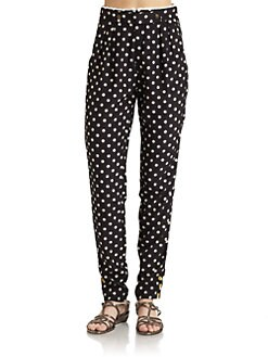 6 Shore Road - Lace-Trimmed Polka Dot Pants