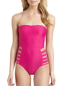 6 Shore Road - Shack Cutout-Sides Strapless Swimsuit