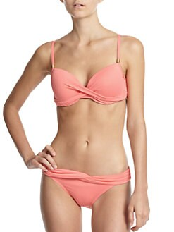 Carmen Marc Valvo - Twist-Front Bikini Top