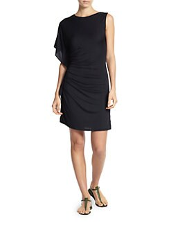 Carmen Marc Valvo - Draped Coverup Dress
