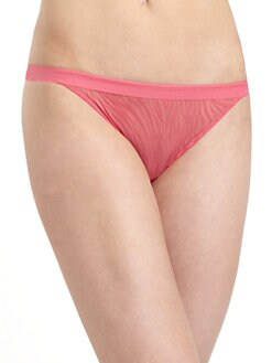 OnGossamer - Sheer Instinct Mesh Animal Print Thong