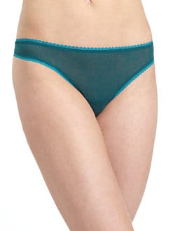 OnGossamer - Mesh Picot Detail Thong