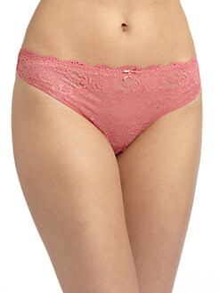 Cosabella - Thea Sheer Lace Low-Rise Thong