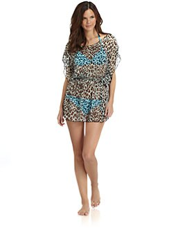 Letarte - Bam-Bam Drop-Waist Sheer Coverup