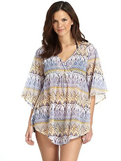 Letarte - Hippy Skull Sheer Tunic Coverup