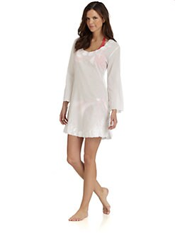 Letarte - Embroidered Cotton Coverup