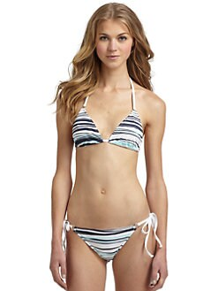 Kushcush Swim - Wave Print String Bikini Top