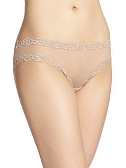 Natori Foundations - Sheer Mesh Scroll Lace Brief