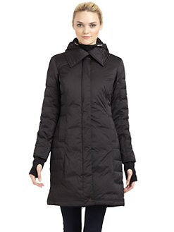 Rainforest - Quilted Satin Down Coat