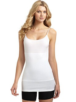 Yummie Tummie - Long Strappy Tank/White