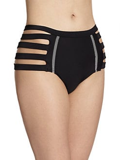 6 Shore Road - Chloe Cutout High-Waist Bikini Bottom