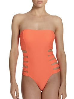 6 Shore Road - One-Piece Contadora Cutout Strapless Swimsuit