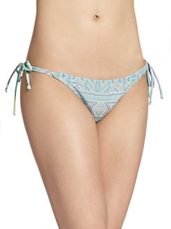 6 Shore Road - Juju Geometric-Print Tie-Side Bikini Bottom