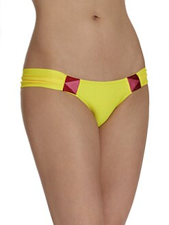 6 Shore Road - Rockhouse Embroidered Bikini Bottom