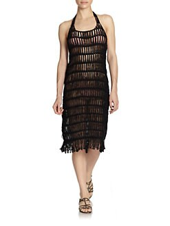 6 Shore Road - Crochet Fringe Dress
