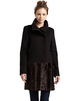 Tahari - Alma Faux Fur Coat