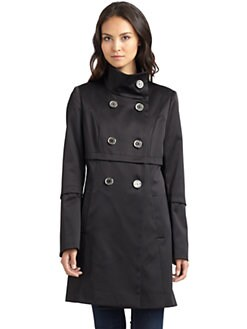 Tahari - Anya Satin Trenchcoat