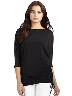 Natori - Shirred Tunic/Black