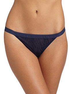 OnGossamer - Tonal Zebra Mesh Thong