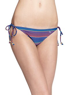 French Connection - Striped String Bikini Bottom
