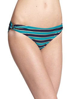French Connection - Sun & Sea Striped Bikini Bottom