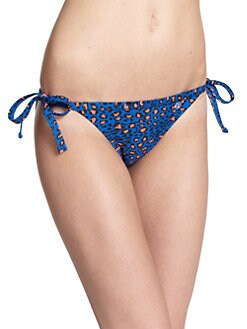 French Connection - Leopard-Print String Bikini Bottom