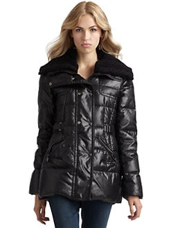 Via Spiga - Cable Knit Puffer Coat