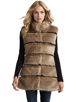 Via Spiga - Faux Fur & Leather Vest
