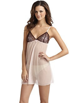 Cosabella - Satin Mesh Babydoll