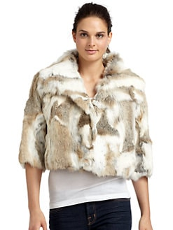 Adrienne Landau - Rabbit Fur Cropped Jacket