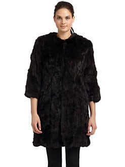Adrienne Landau - Rex Rabbit Fur Scrap Coat