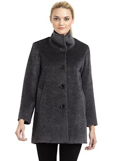 Cinzia Rocca - Alpaca & Wool Short Topper Coat