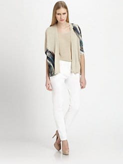 Piazza Sempione - Paint Print Cardigan