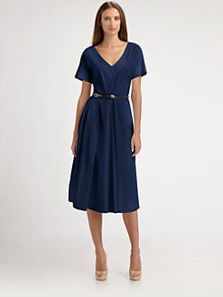 Piazza Sempione - Poplin Belted Dress