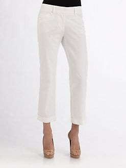 Piazza Sempione - Cuffed Five-Pocket Capri Pants